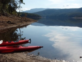 Paddling Bendeela Campground to Beehive Point